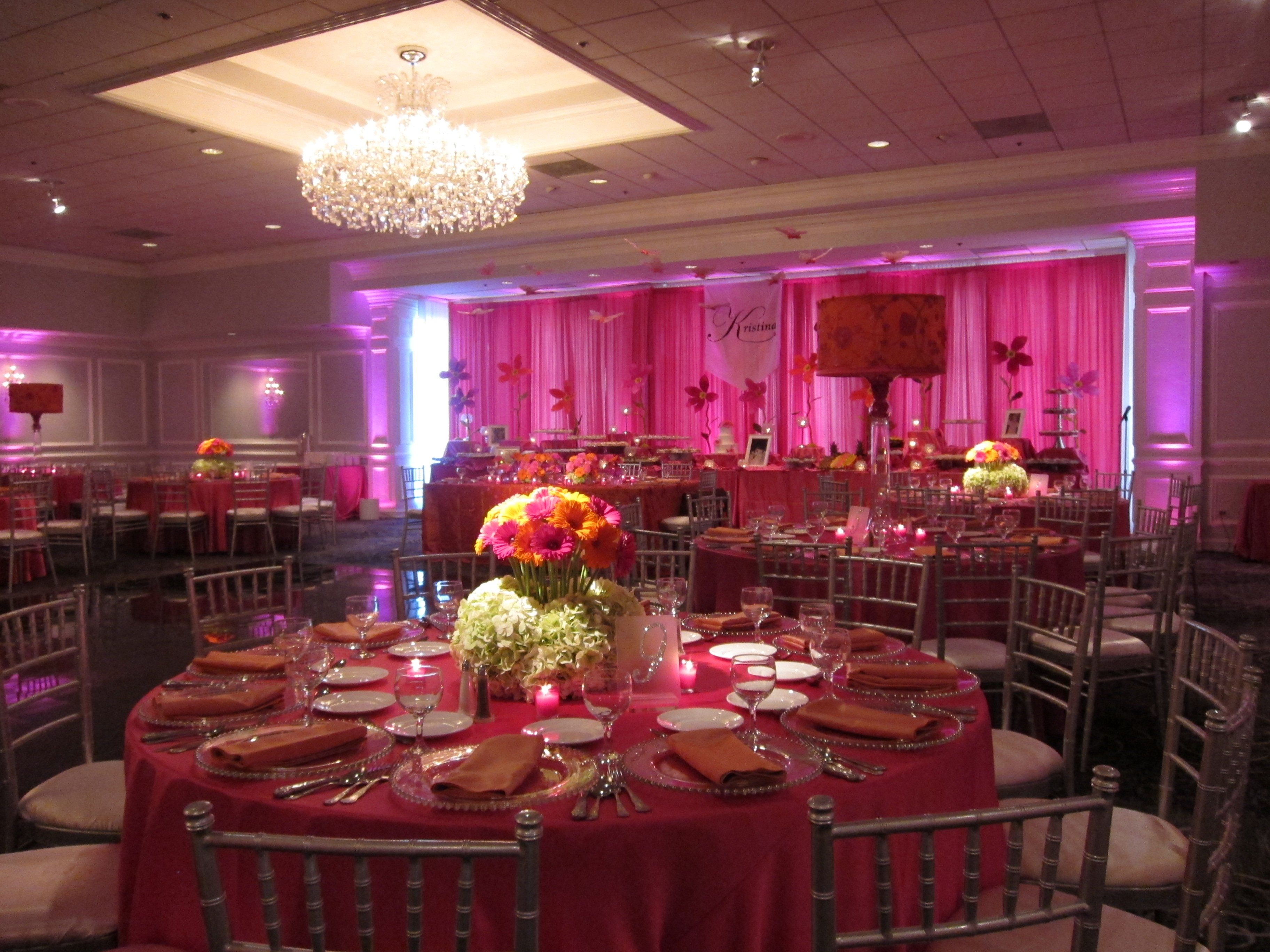 Pink and Orange Party Decor Empress