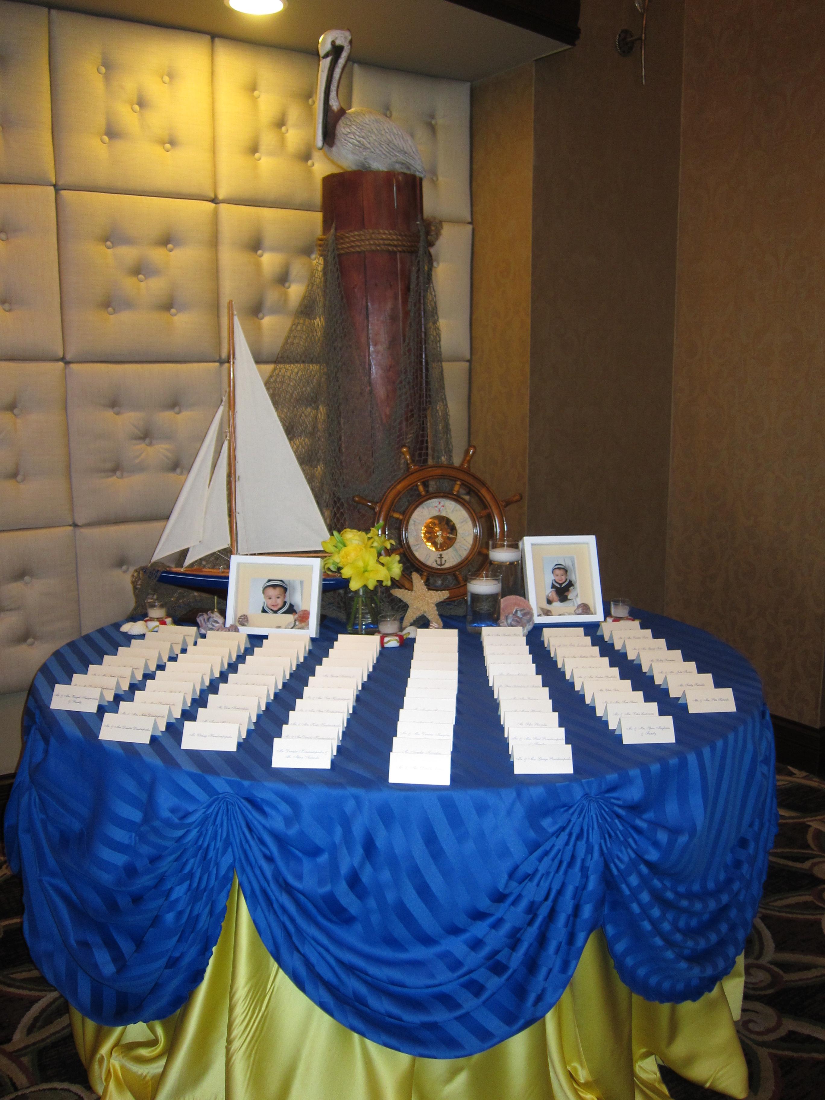 Nautical Theme Baptism