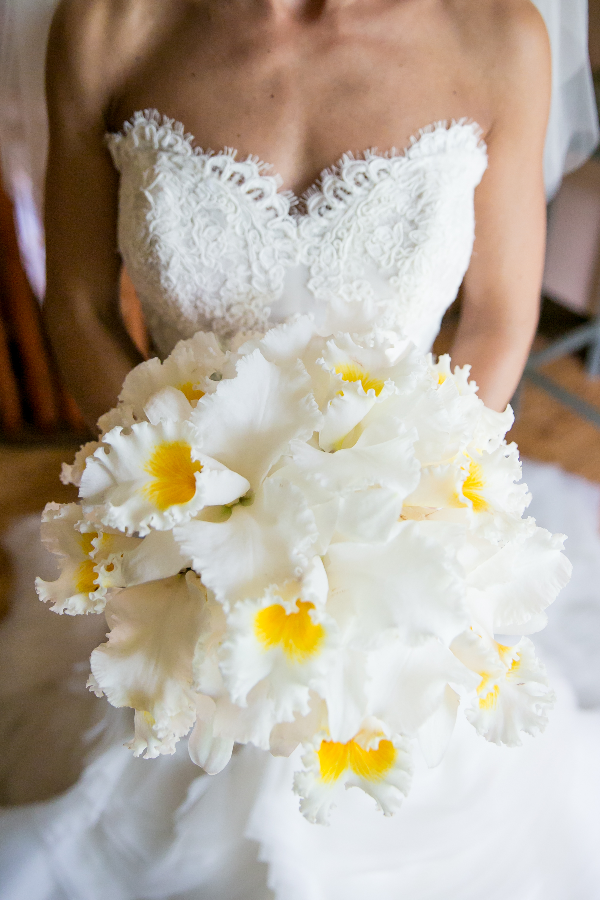 Exotic White Orchid Bride Bouquet