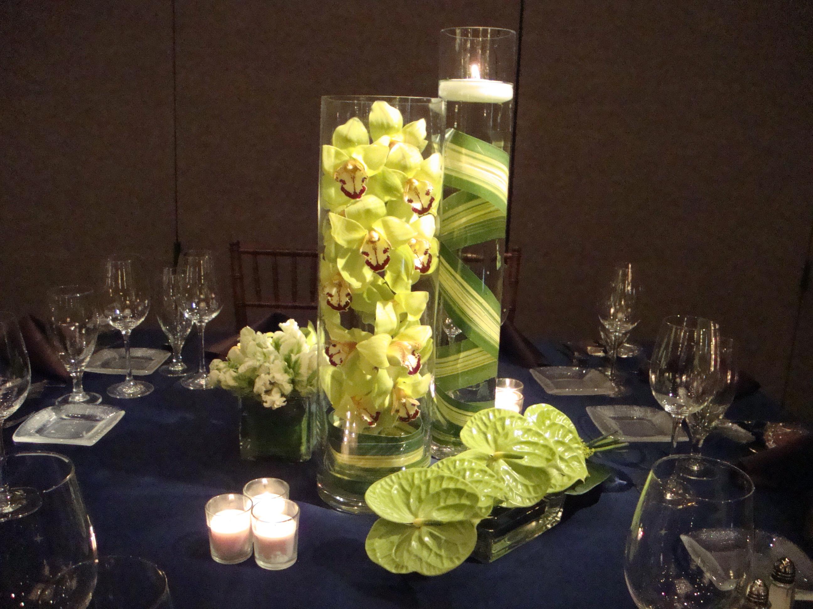 Green Flower Centerpiece Collection