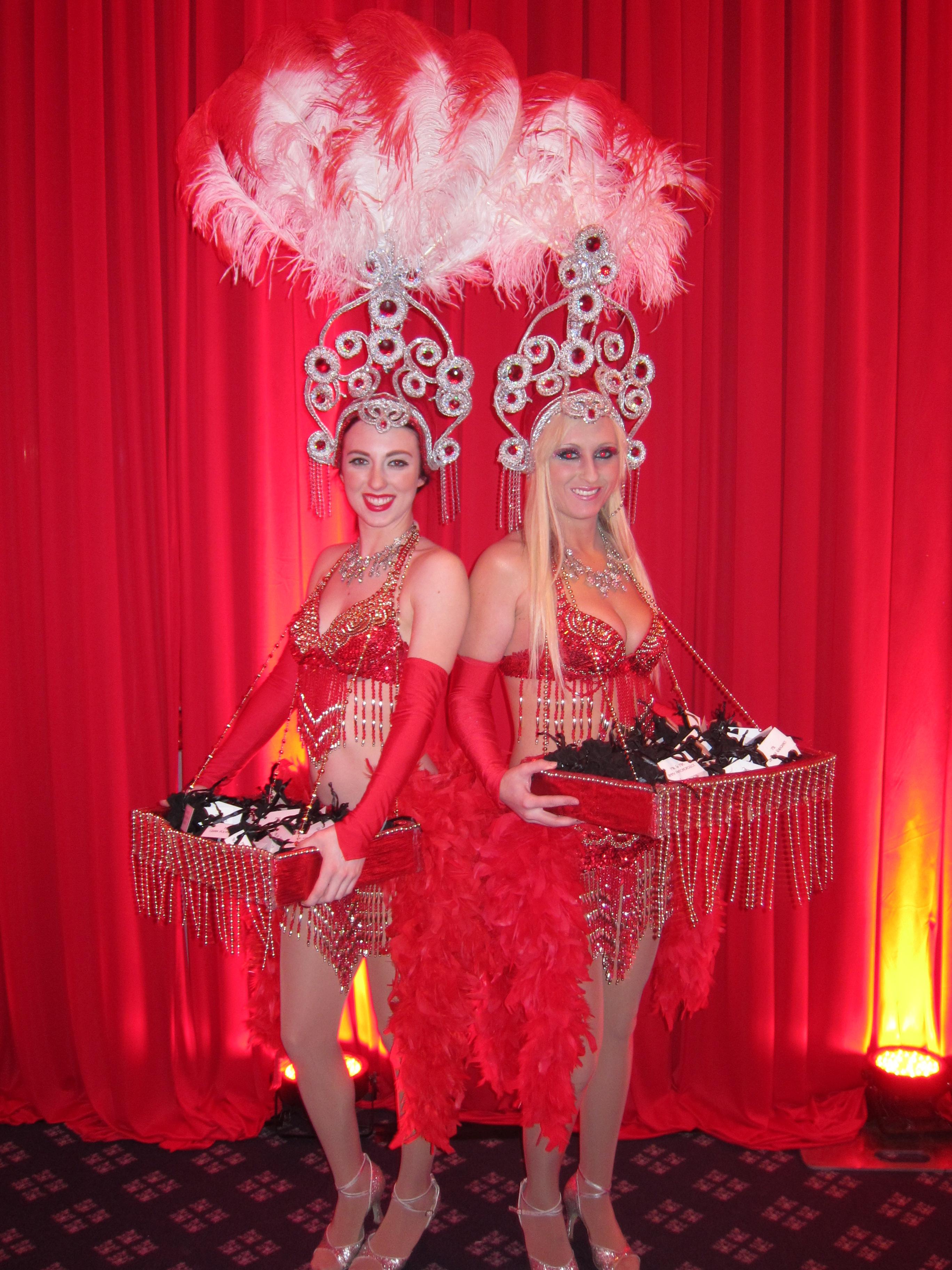 Las Vegas Showgirls Red Drapery