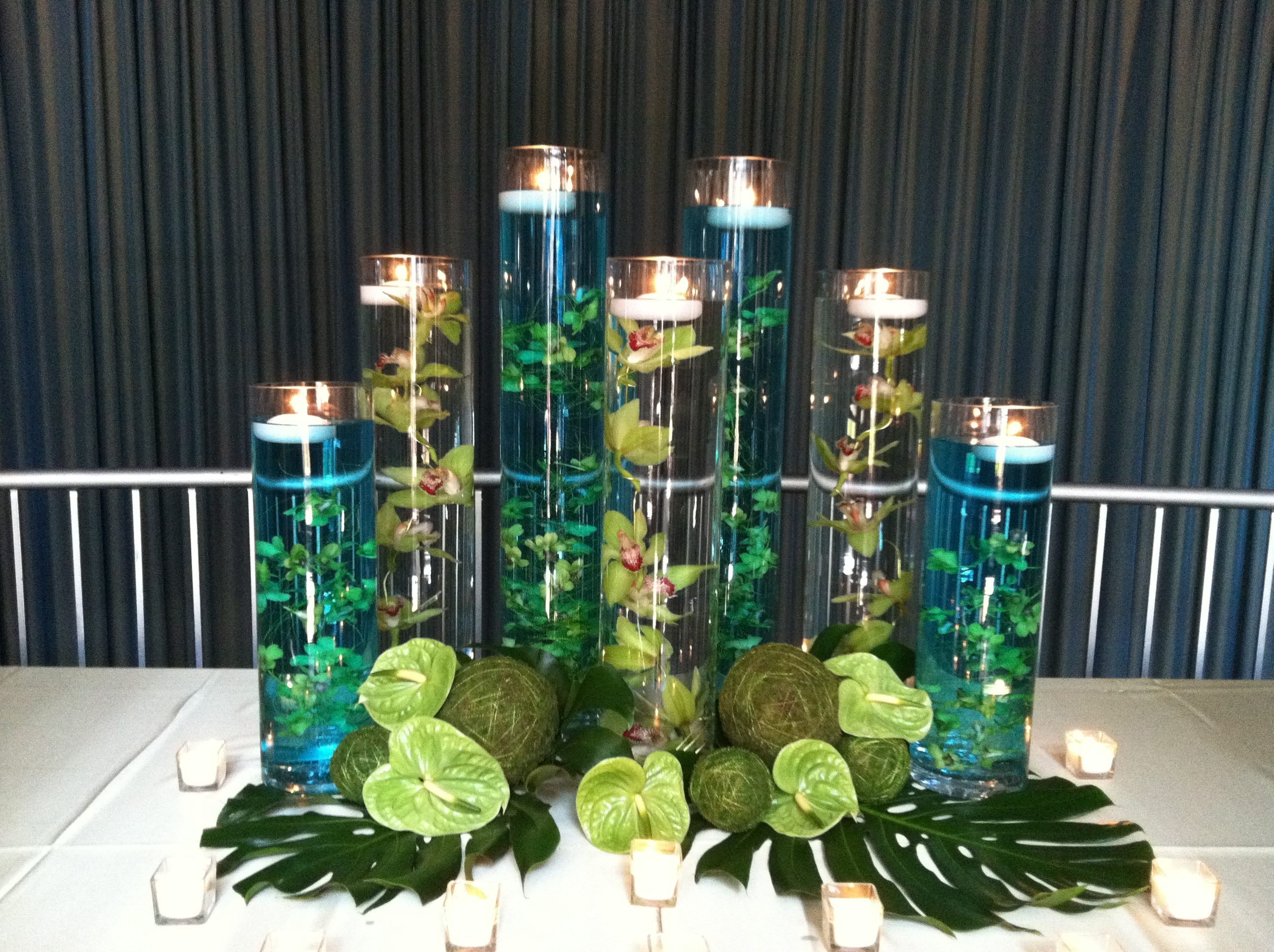 Submerged Orchids Floating Candles