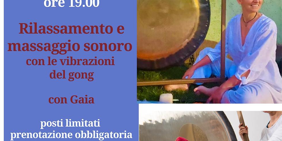 Rilassamento e massaggio sonoro con le vibrazioni del gong