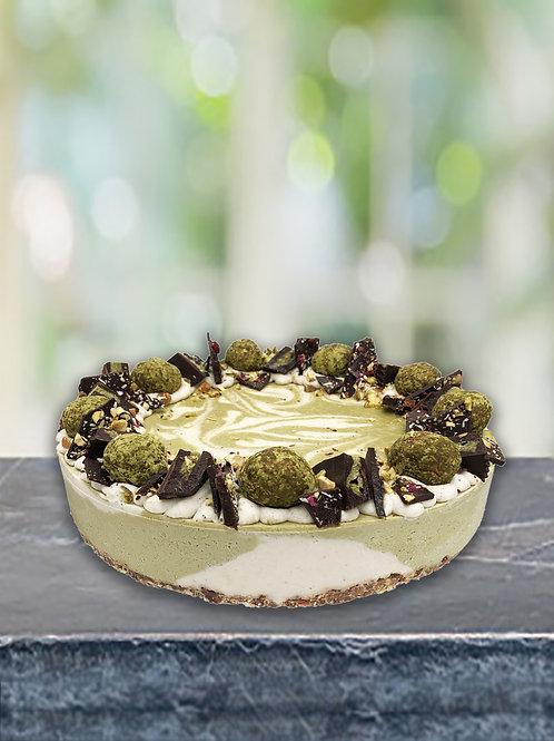Large Premium Matcha & Vanilla Raw Cake