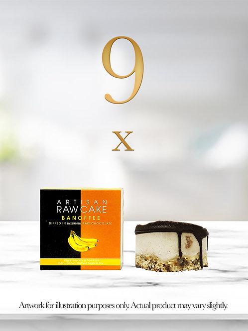 9 x Banoffee Raw Cake   Dipped in Raw Chocolate