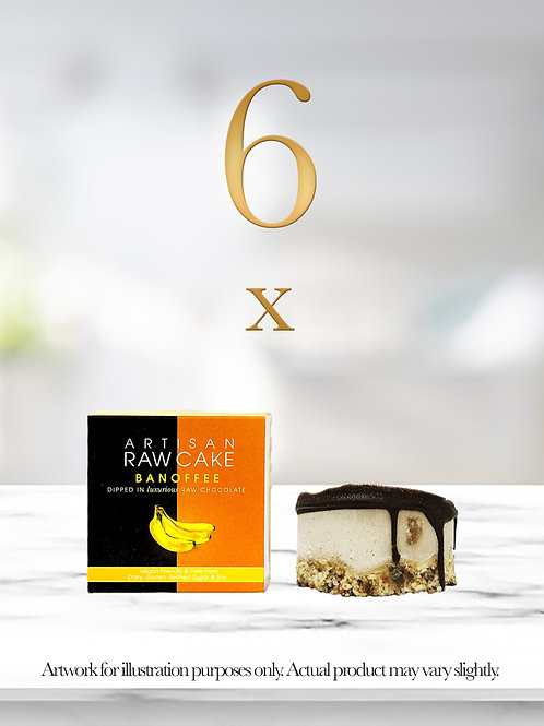 6 x Banoffee Raw Cake | Dipped in Raw Chocolate