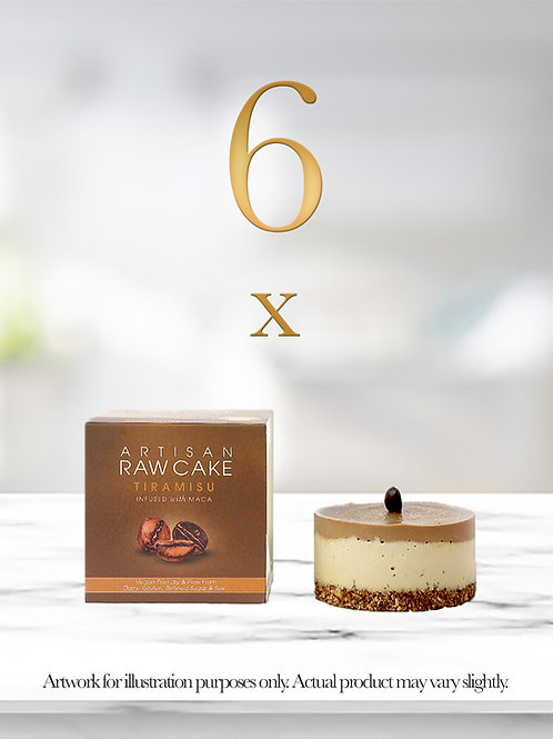 6 x Tiramisu Raw Cake   Infused with Maca
