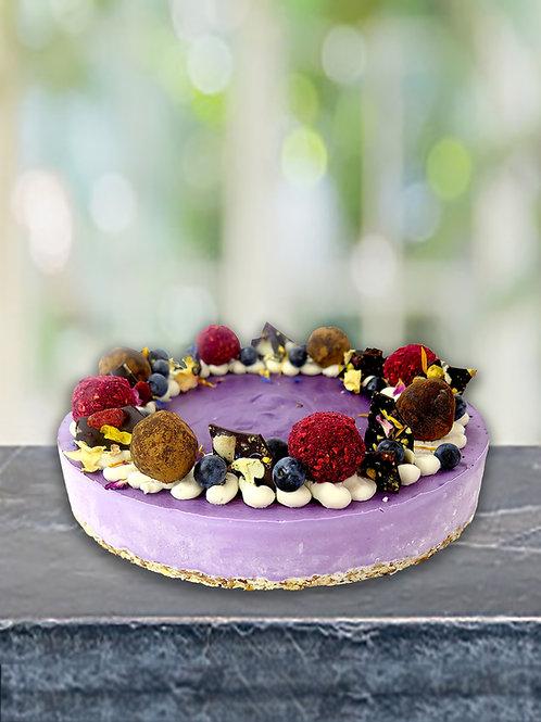 Large Blueberry Raw Cake