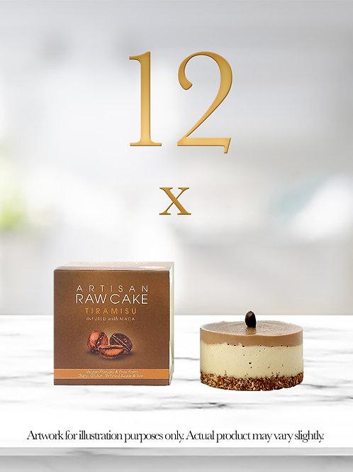 12 x Tiramisu Raw Cake | Infused with Maca