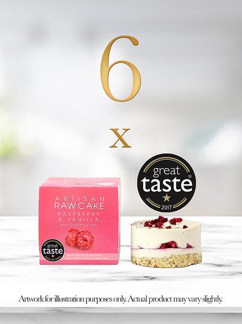 6 x Raspberry & Vanilla Raw Cake | Infused with Lucuma
