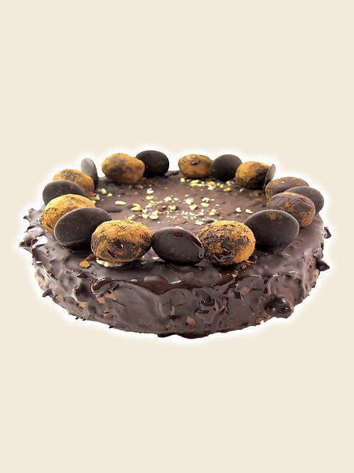 Large Chocolate & Hazelnut Raw Cake
