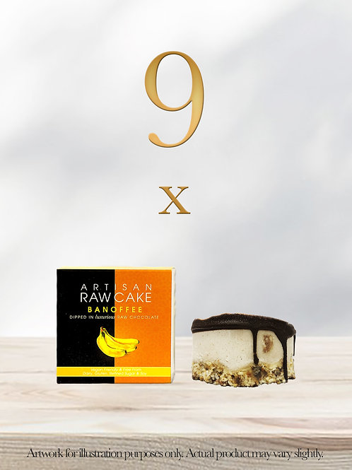 9 x Banoffee Raw Cake | Dipped in Raw Chocolate