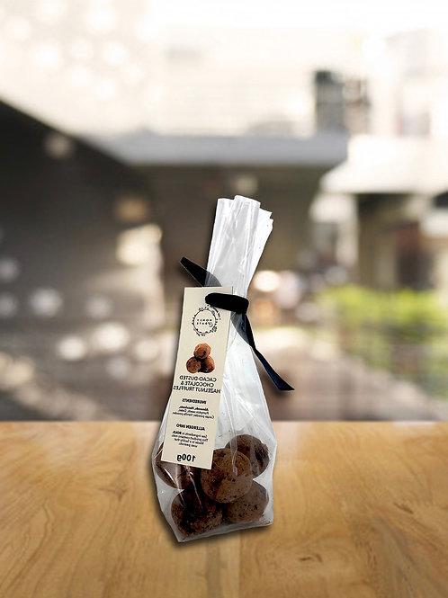 Cacao-dusted Chocolate & Hazelnut Truffles