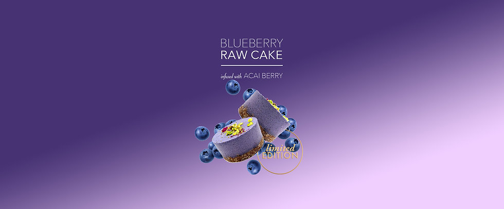 Limited Edition Blueberry Raw Cake
