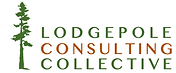 Lodgepole wordmark 1 colour tree 2 colou