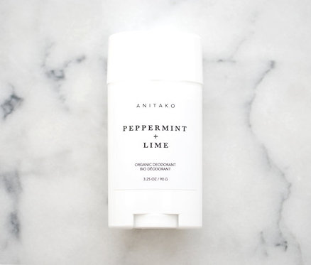 Peppermint + Lime Organic Deodorant