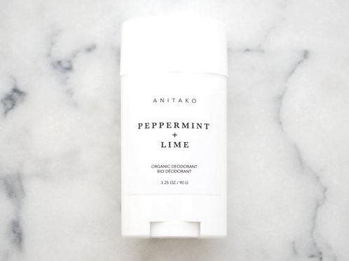 Peppermint + Lime Organic Deodorant