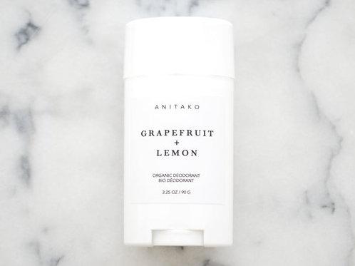 Grapefruit + Lemon Organic Deoderant