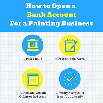 Business banking account for paintig contractors, how to open a business account for painters, do painters need a business banking account, bank account for paintig business