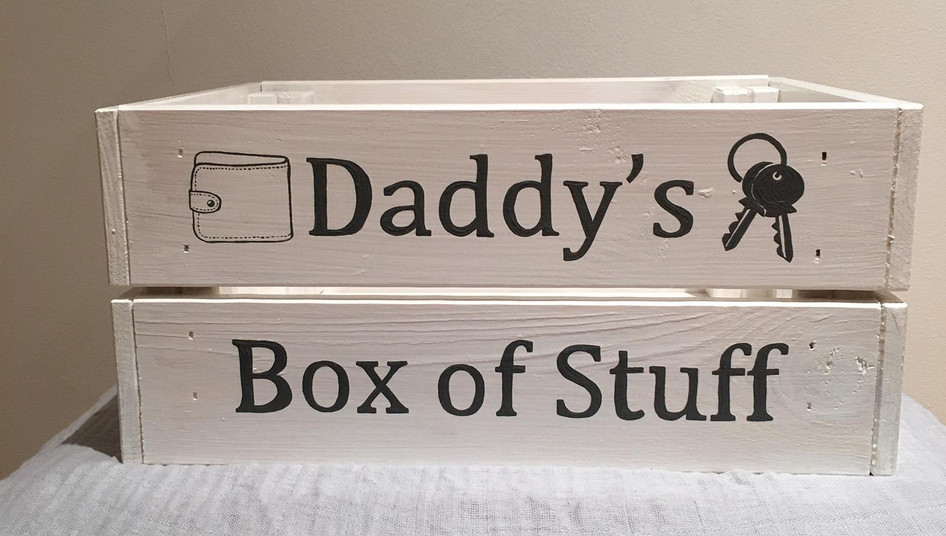 A box for daddy's stuff