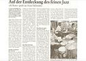 Pressebericht, Auf der Entdeckung des feinen Jazz