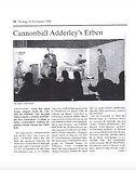 Zeitungsartikel Cannonball Adderley's Erben, Patrick Bianco's Cannonsoul