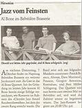 Jazz vom Feinsten, Pressebericht Patrick Bianco Al Bone Crysler Jazz Award