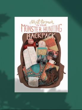 Monster Hunsting Backpack