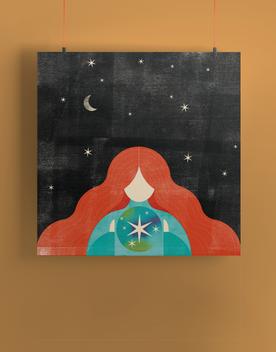 Starry Sky Illustration