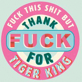Tiger King - typographical illustration