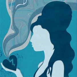 Amy Winehouse - papercut illustration