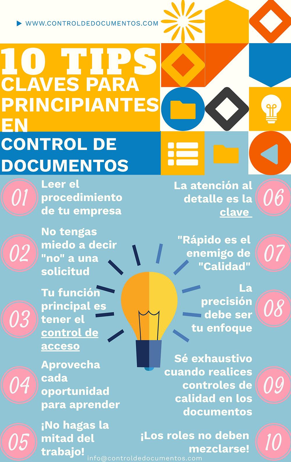 10 Tips claves para principiantes en control de documentos