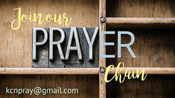 Join our prayer chain!