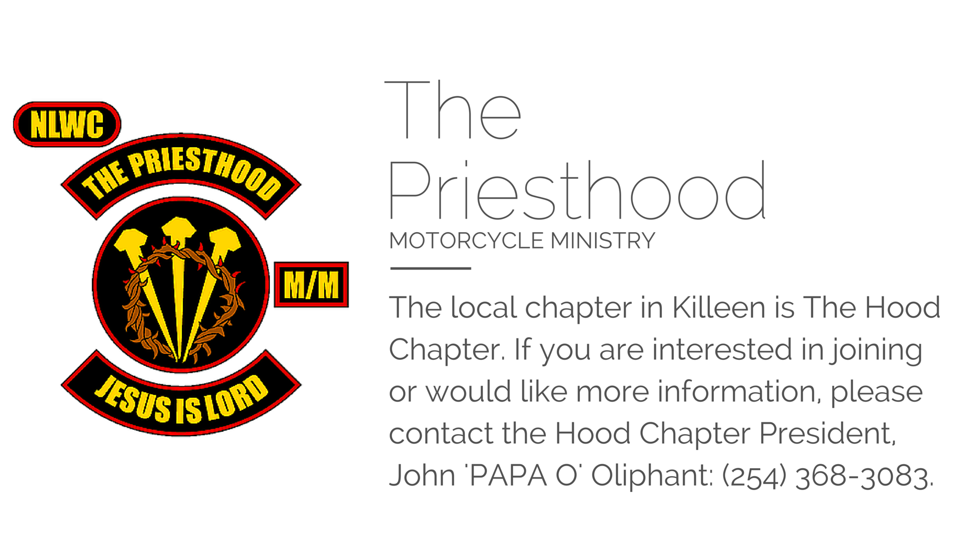 The Priesthood Motorcycle Ministry