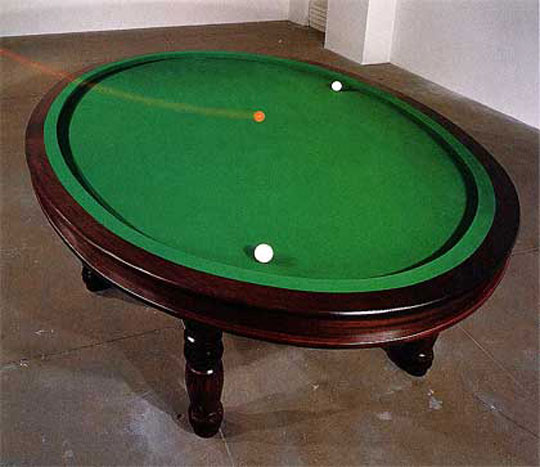 Oval billiard table