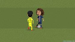 Suarez nutmegs David Luiz twice