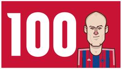 Arjen Robben scores his 100th goal