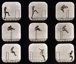 Athletes walking high leap