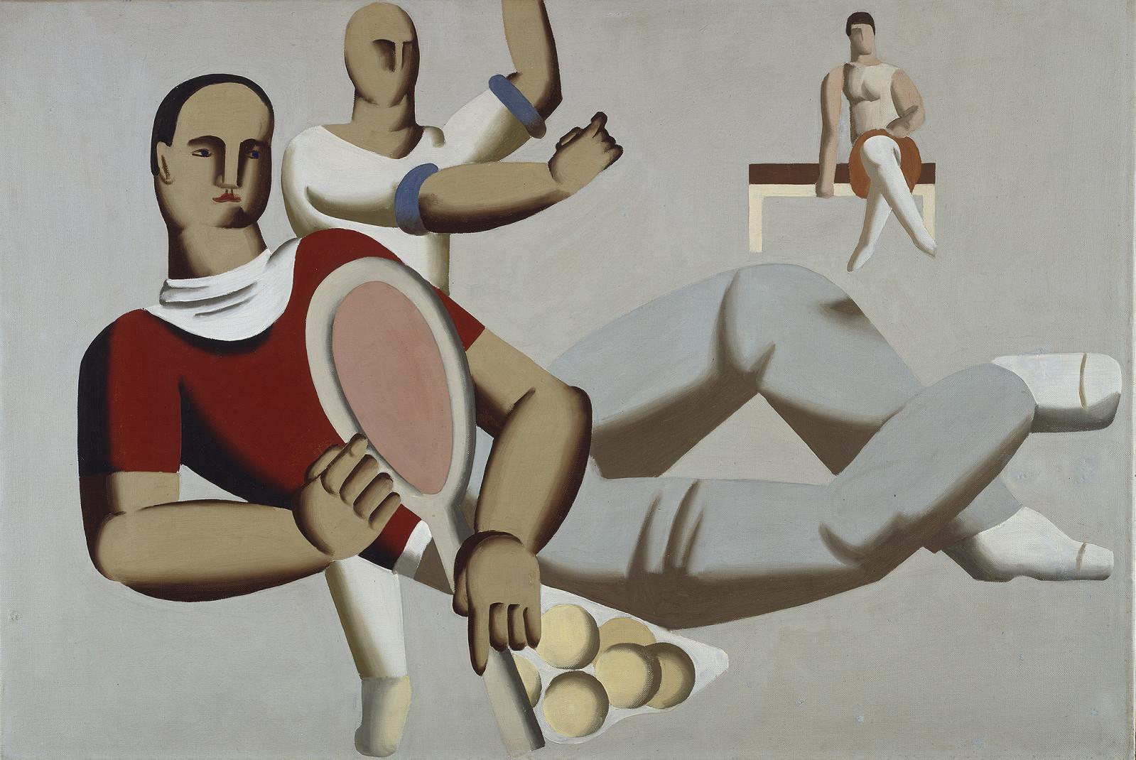Tennisspieler liegend