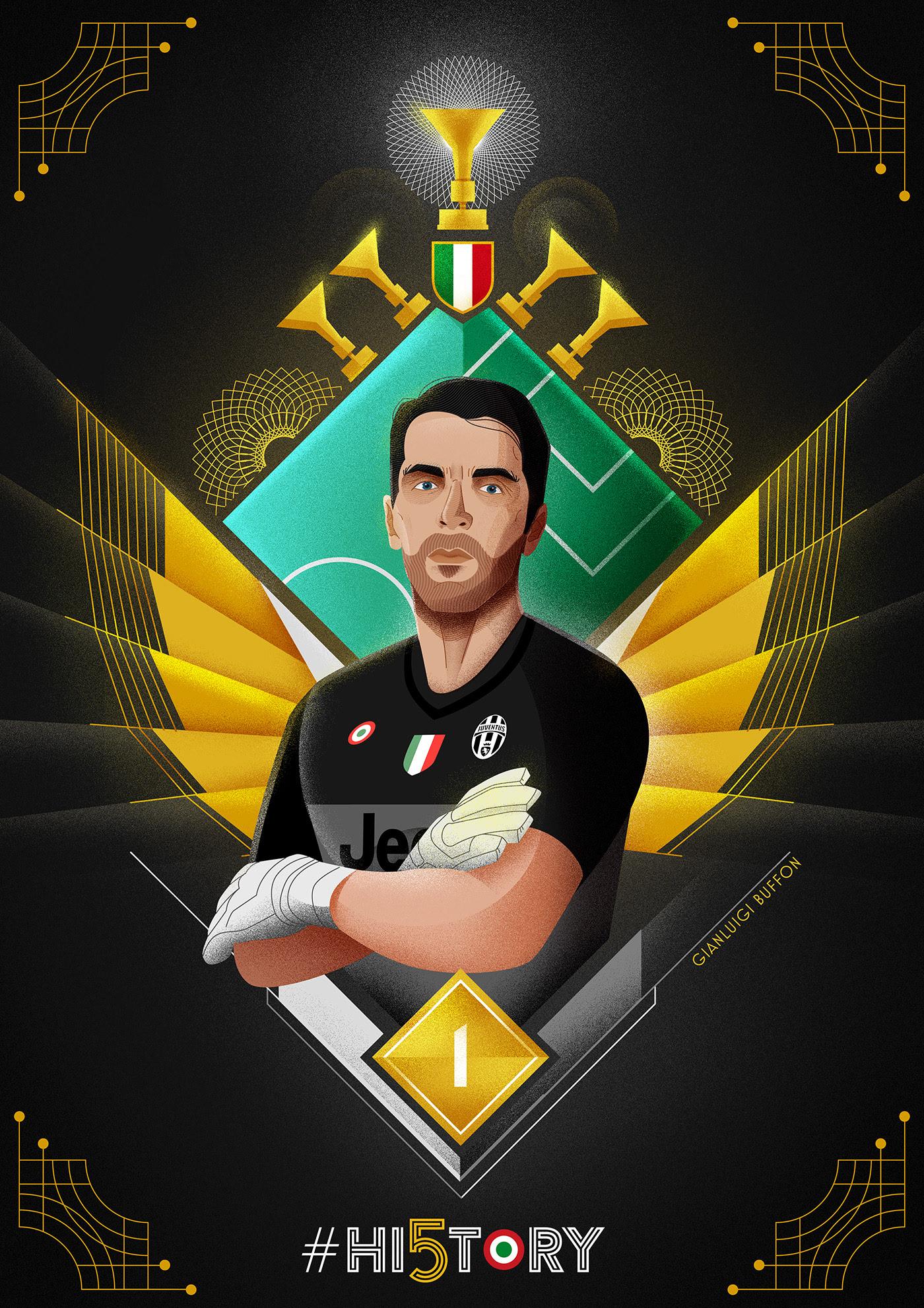 Juventus Hi5tory poster