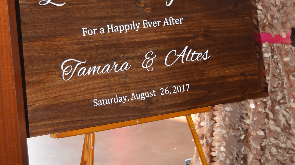 Custom Wooden Event Sign