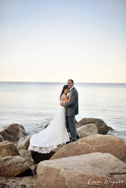 Bride and Groom Oceanside