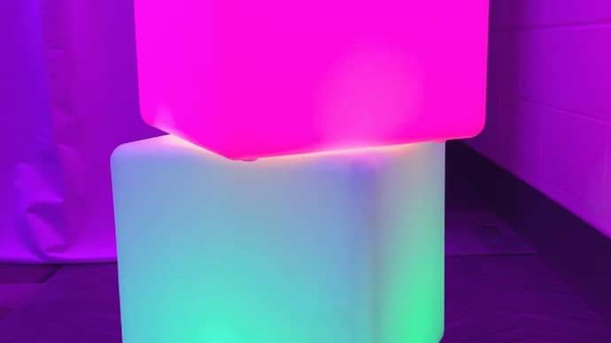 Glow Cube End Table