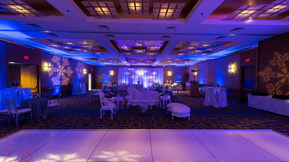 Snowflake Gobo Projection