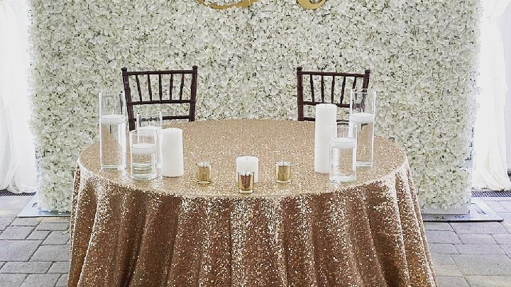 Flower Wall - White / Cream Hydrangea