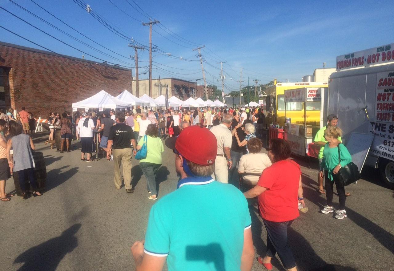 Food Trucks and Vendor Tents at Festival