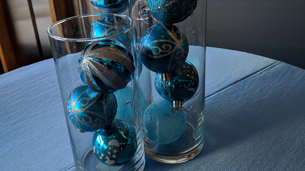 Holiday Ornament Centerpieces