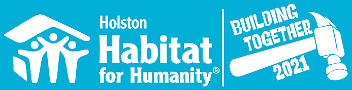 Habitat Building Together Logo (white on