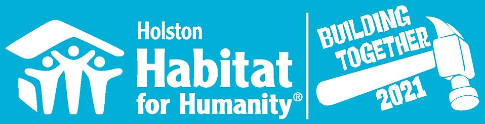 Habitat Building Together Logo (white on