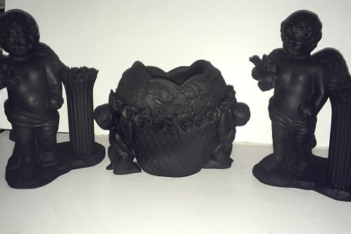 cherub vase and candle holder